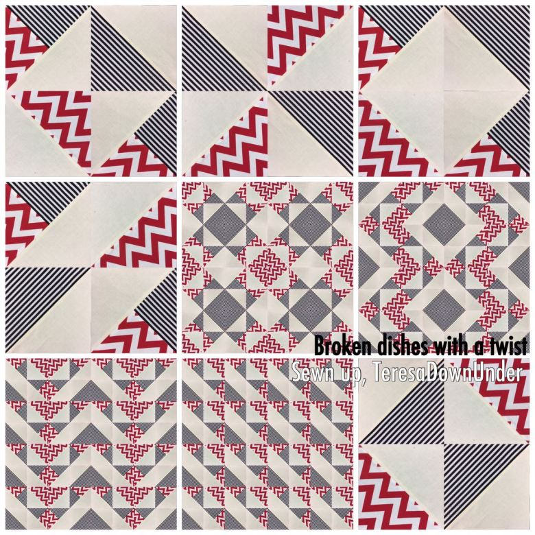 Video tutorial: broken dishes with a twist - quick and easy block