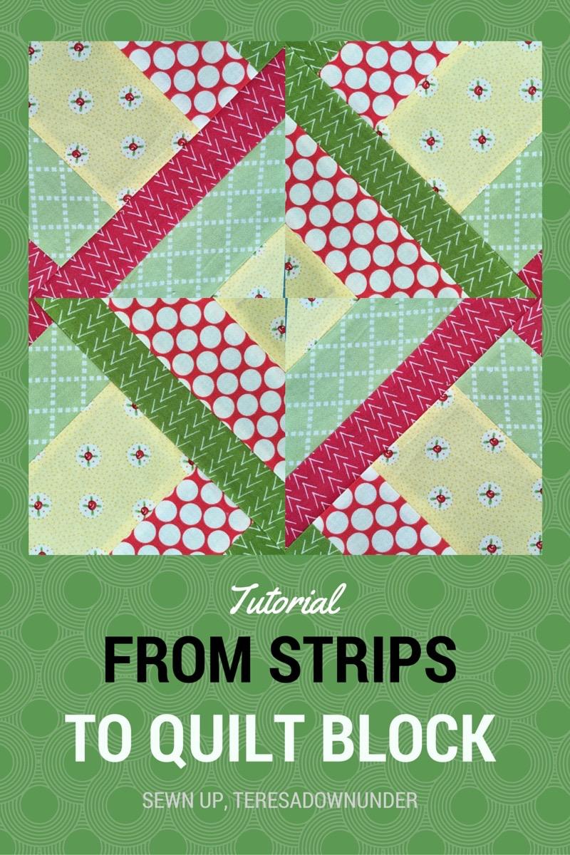 From 5 Fabric Strips To Quilt Block Video Tutorial Hidden