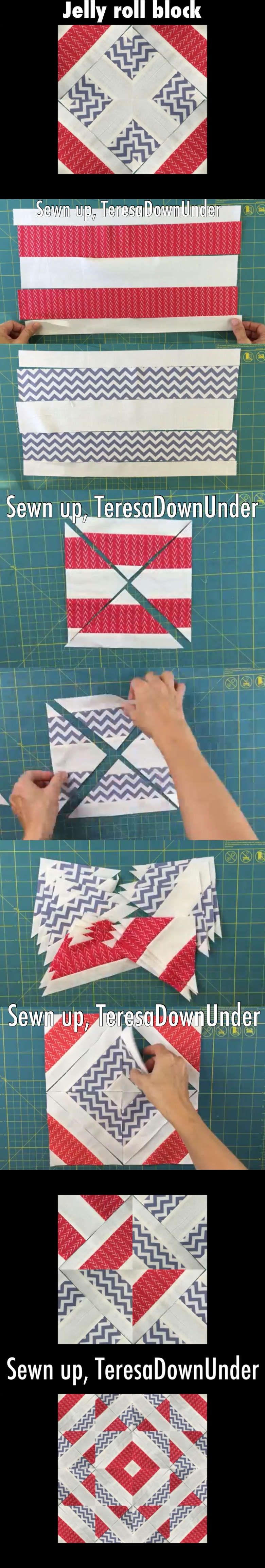 Jelly roll block - quick and easy video tutorial