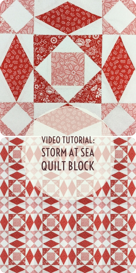 Video tutorial: storm at sea quilt block - free foundation pattern