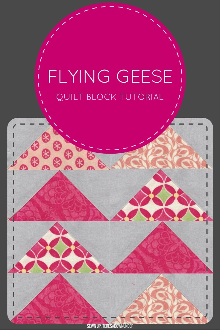 Video tutorial: make 4 flying geese blocks at once | Sewn Up : flying geese quilt tutorial - Adamdwight.com