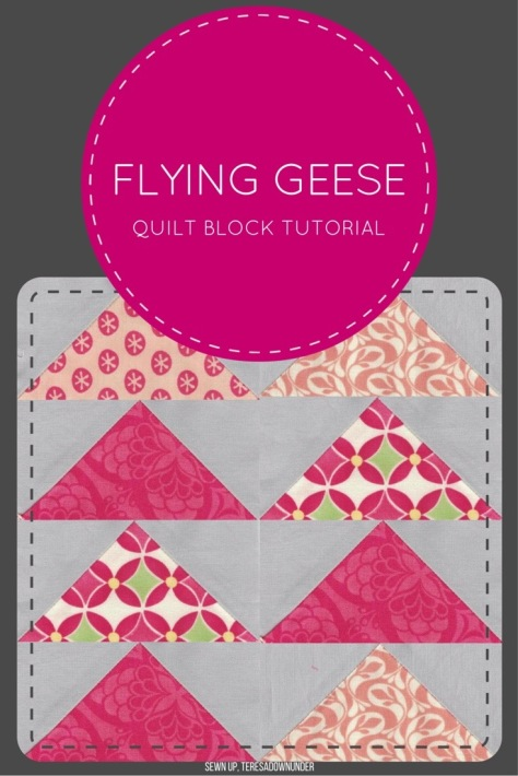 Video tutorial: make 4 quick and easy flying geese quilt blocks in 2 minutes!