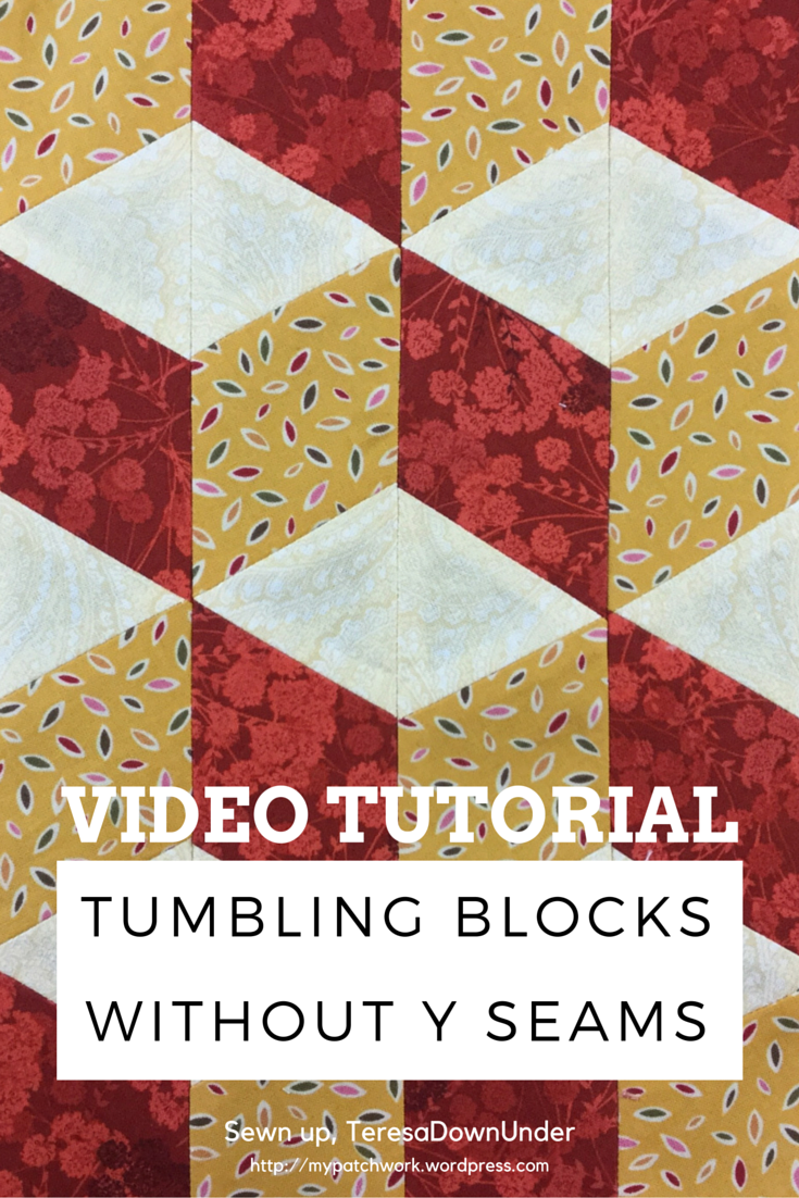 Video Tutorial Tumbling Blocks With No Y Seams Sewn Up