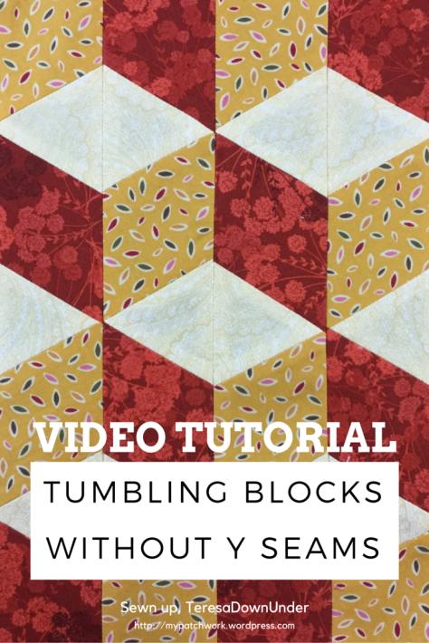 Video Tutorial Tumbling Blocks With No Y Seams Sewn Up