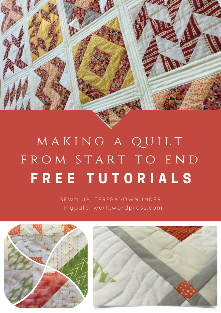 Making a quilt from start to end - free tutorials