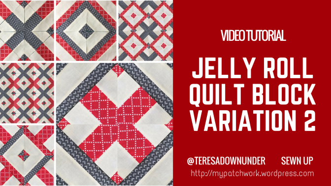 Video tutorial: jelly roll block variation 2
