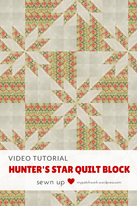 Video tutorial: Hunter's star quilt block - use Christmas colours to make a Christmas quilt
