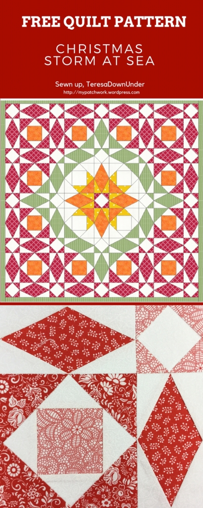 Christmas Storm At Sea Quilt Free Pattern Download Sewn Up