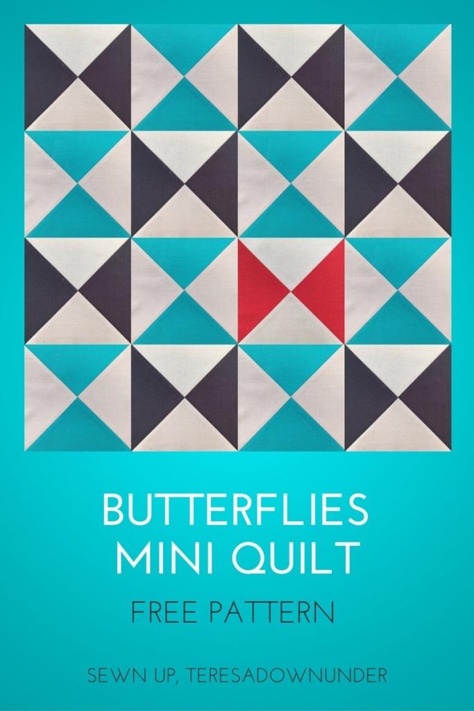 Butterflies mini quilt
