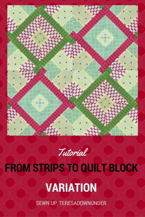 Hidden wells quilt block - 2 minute quilt blocks