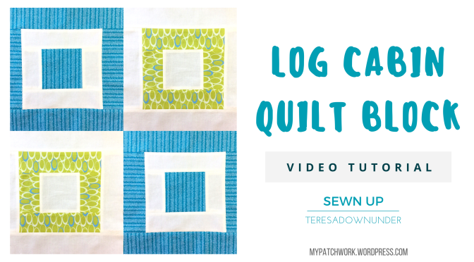 Video tutorial: Log cabin – quick and easy quilt block