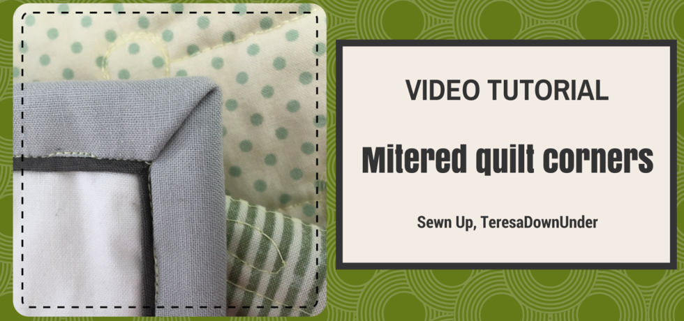 Video tutorial Mitered quilt corners