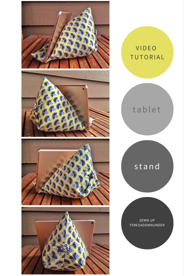 Video Tutorial Tablet Or Ipad Stand Tutorial Sewn Up