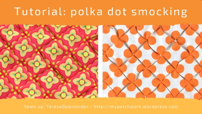 Video tutorial: polka dot smocking - quick and easy texture for your quilts