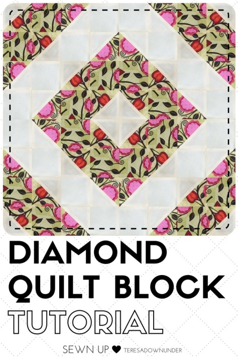Video tutorial: Diamond quilt block - quick and easy quilting