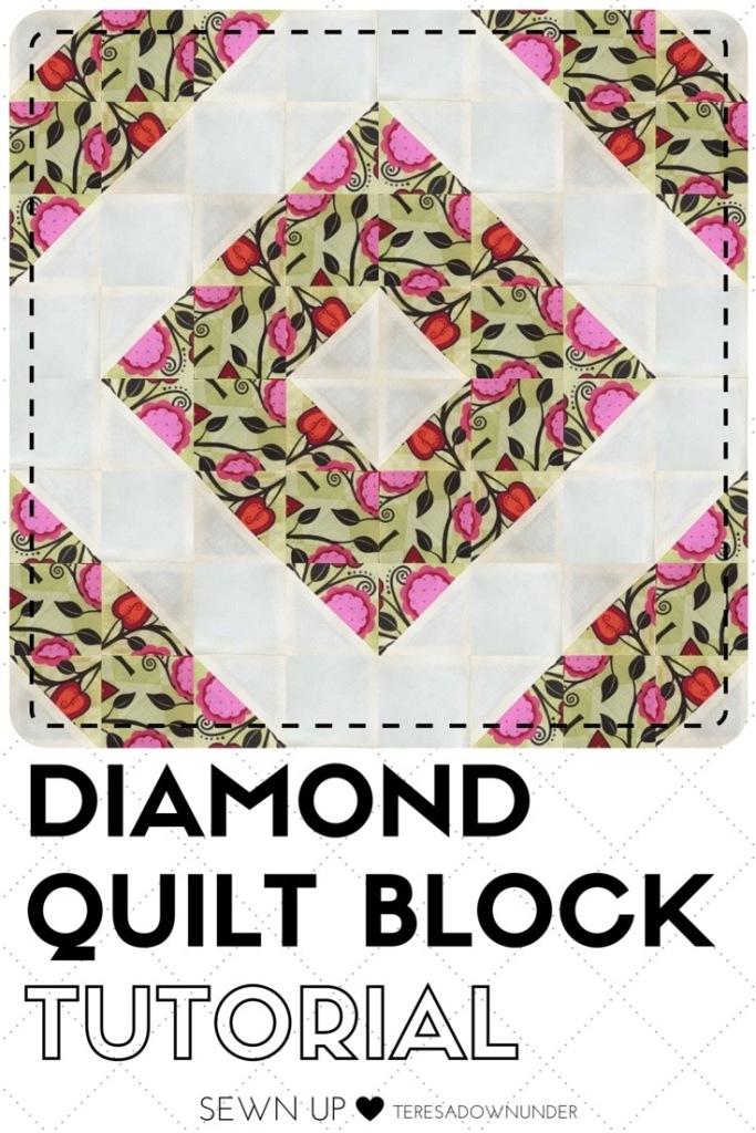 Video tutorial: Diamond quilt block - quick and easy quilting