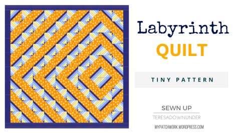 Labyrinth quilt pattern