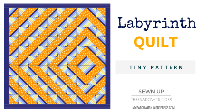 Labyrinth quilt tiny pattern download