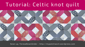 Celtic knots quilt tutorial
