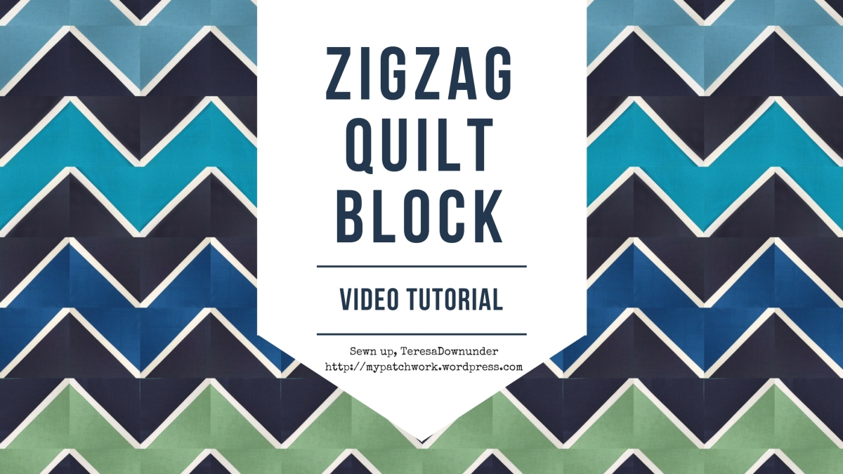 Video tutorial: Zig Zag half square triangles quilt block easy quilting Sewn Up