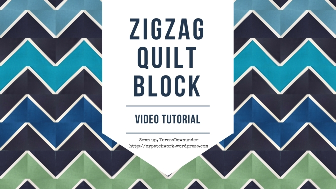 Video tutorial: Zig Zag half square triangles quilt block – easy quilting