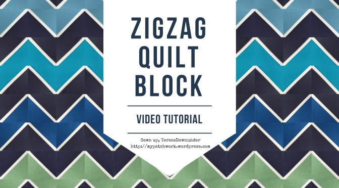 Video tutorial: quick and easy zig zag quilt block with half square triangles
