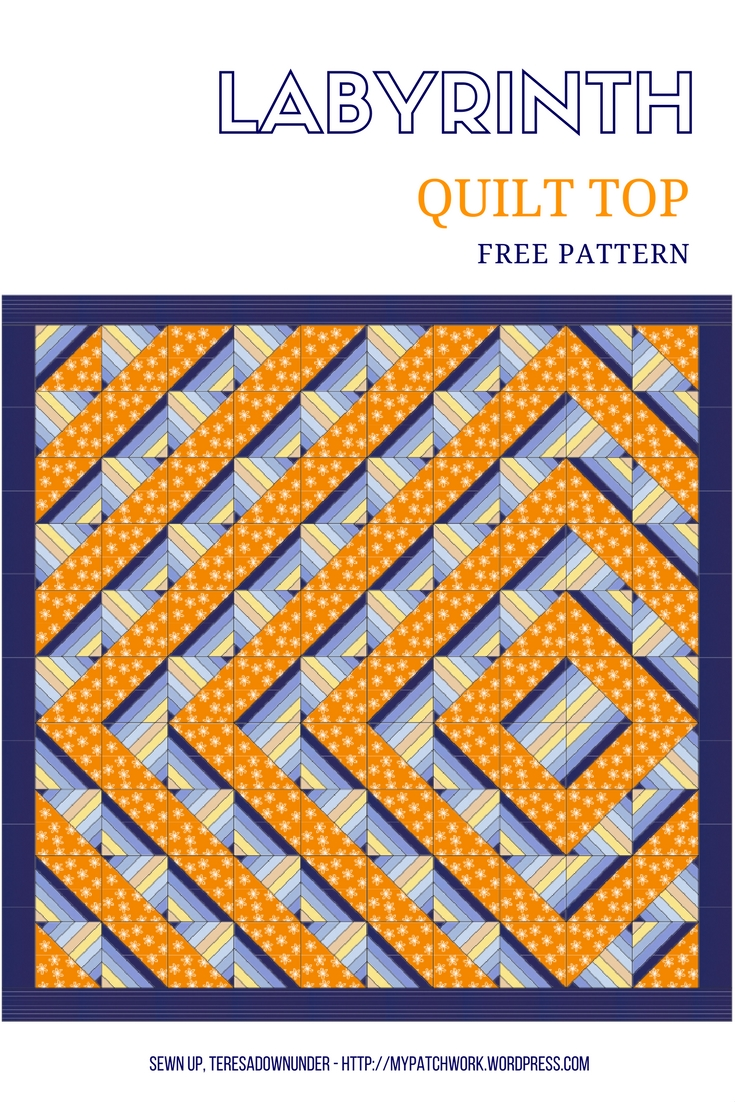 Labyrinth Quilt Pattern Free Download : free pattern Sewn Up
