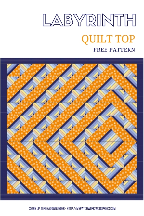 Labyrinth quilt top - free pattern download