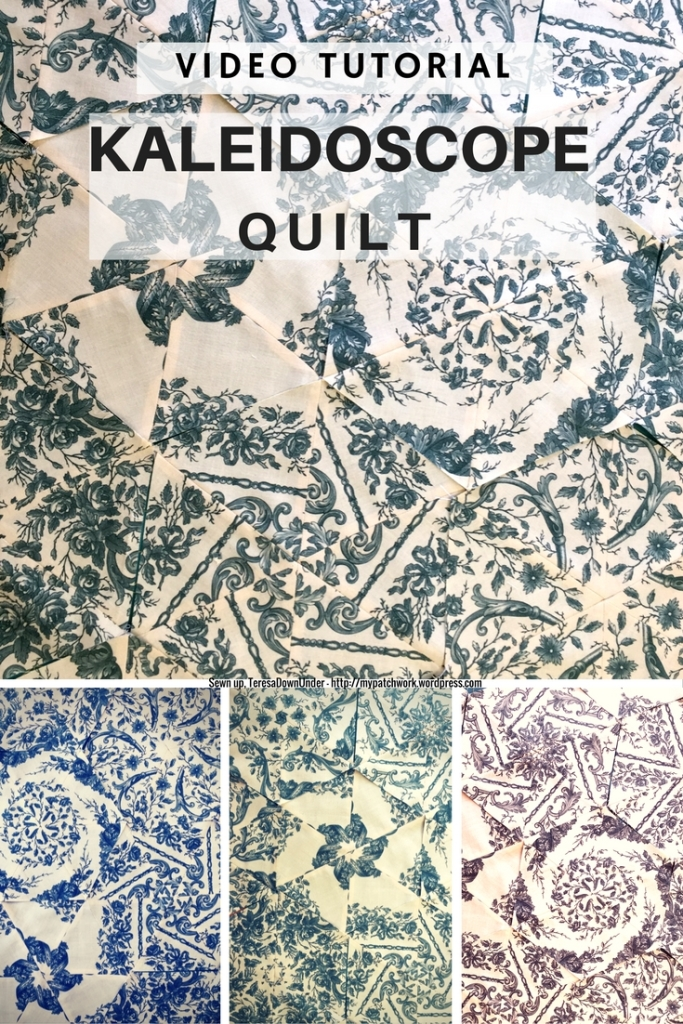 Video tutorial: quick and easy kaleidoscope quilt
