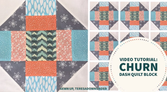 Video tutorial: quick and easy churn dash quilt block