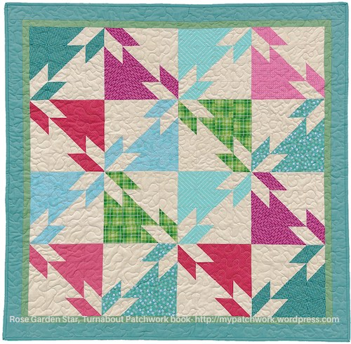 Rose garden star - Turnabout Patchwork book, Teresa Mairal-Barreu