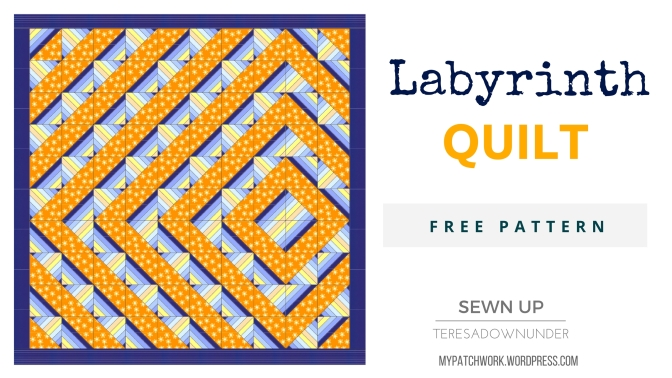 Labyrinth quilt free pattern download