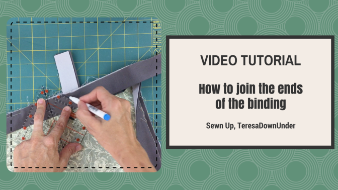 Video tutorial   join the binding ends of your quilt