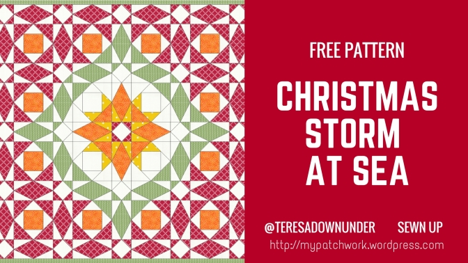 Christmas Storm at Sea quilt – Free pattern download