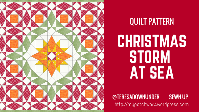 Christmas Storm at Sea quilt – PDF download
