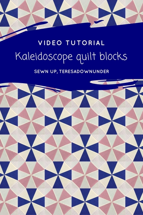 Video tutorial: Kaleidoscope quilt blocks