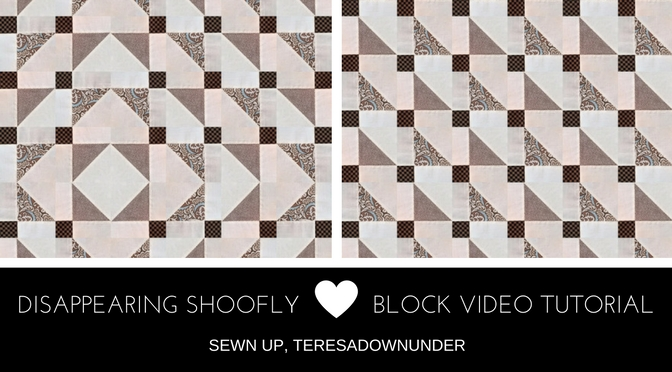 Video tutorial: disappearing shoofly block – variation 4