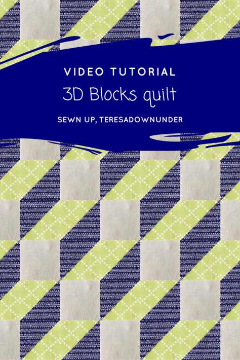 Video tutorial: optical illusion – 3D steps block | Sewn Up