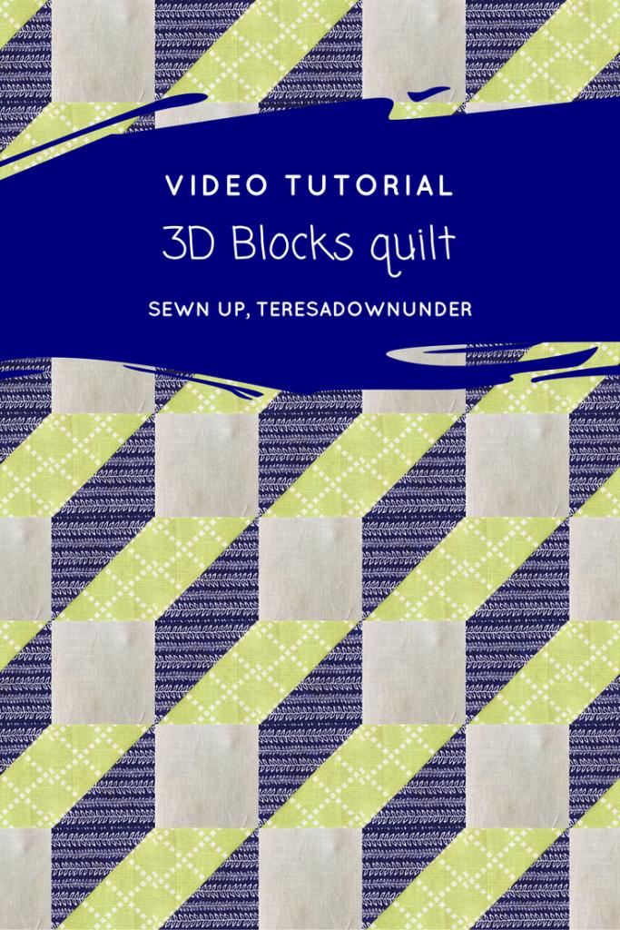 Video tutorial: 3D Blocks quilt