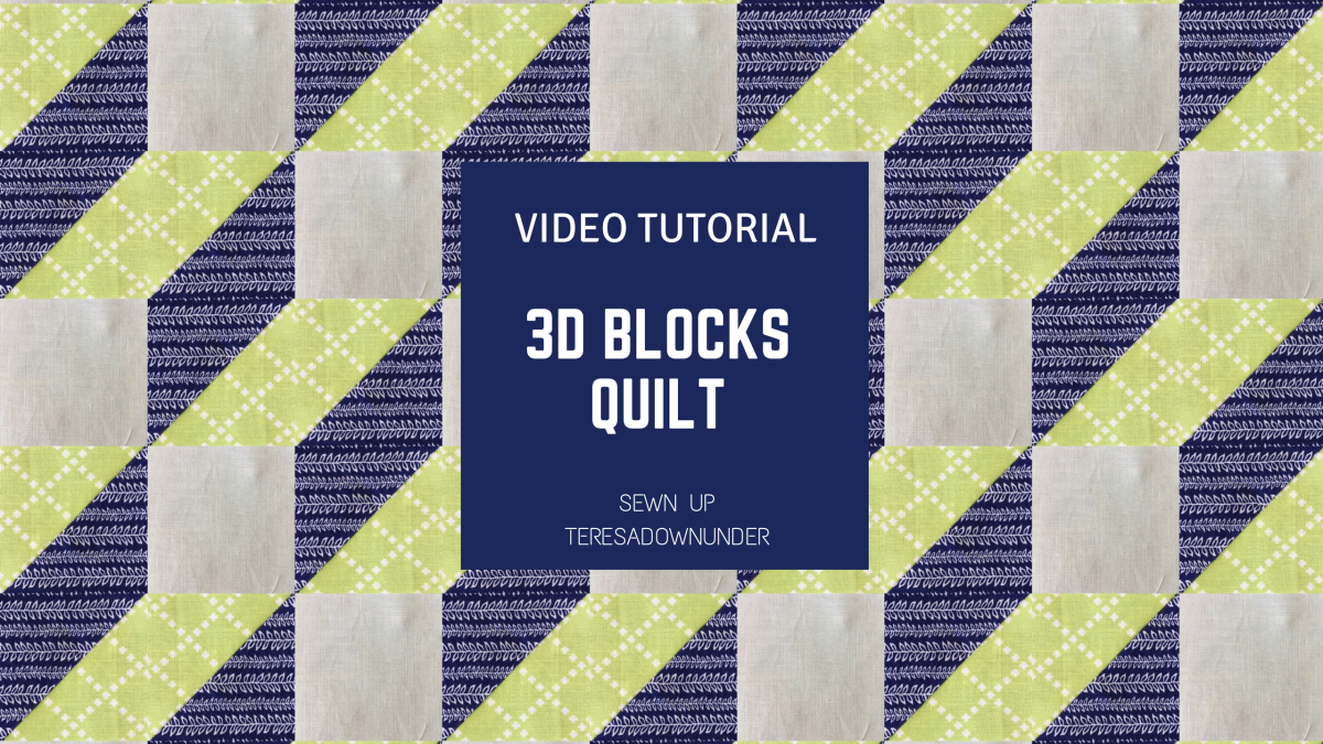 Video Tutorial Optical Illusion 3d Steps Block Sewn Up