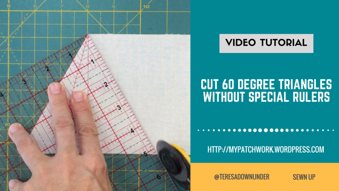 How to cut 60 degree triangles without a special ruler