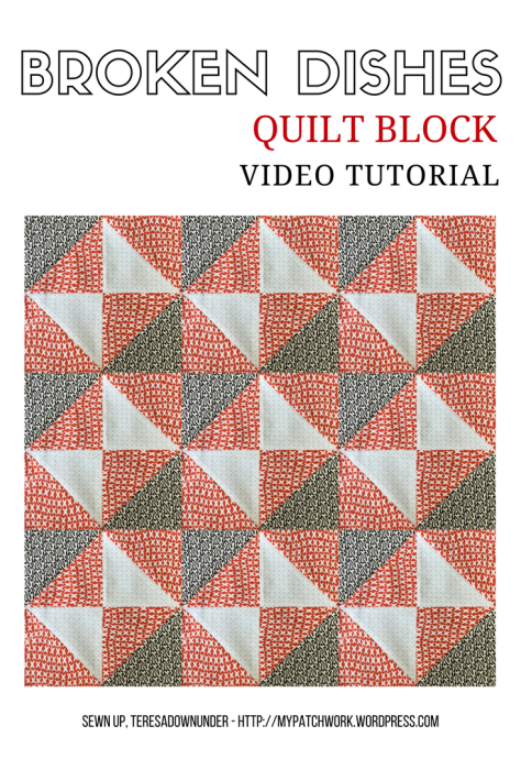 Video tutorial: Broken dishes quilt block