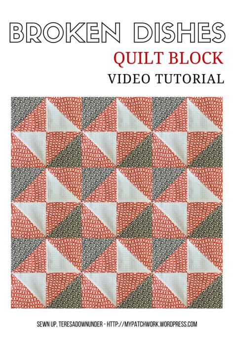 Video tutorial: Broken dishes quilt block