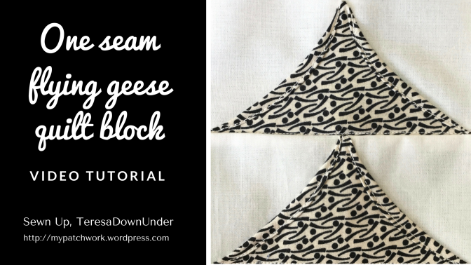 Video tutorial: One seam flying geese quilt block