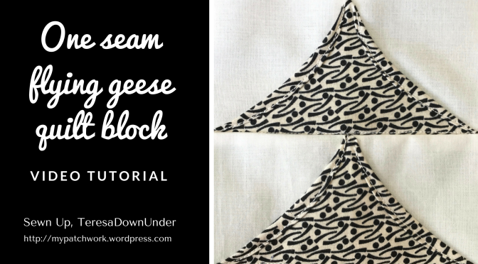 Video tutorial: 2-minute flying geese quilt block - quick and easy quilting