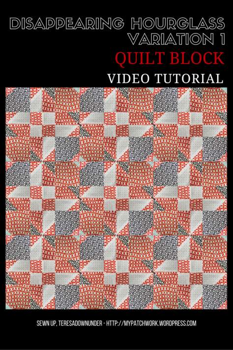 Video tutorial: Disappearing hourglass variation 1 - quilt block