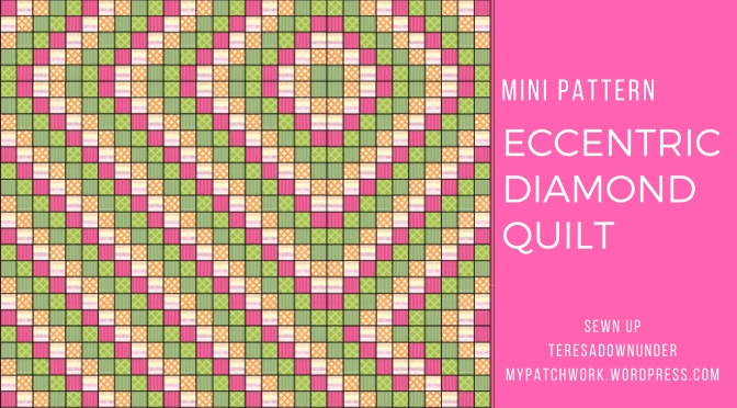 Eccentric diamond quilt – Tiny pattern