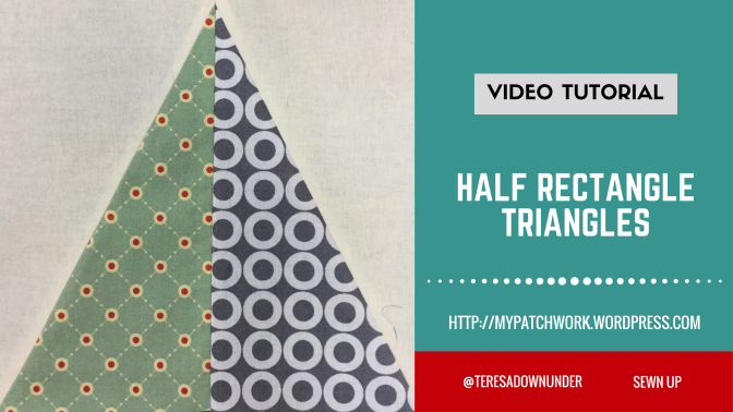 2-minute video tutorial: Half rectangle triangles video tutorial