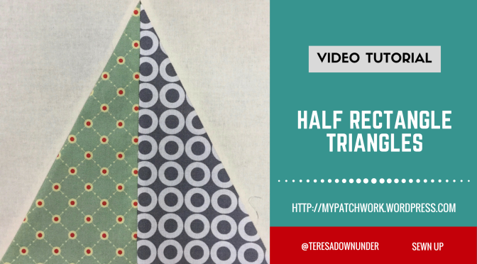 2-minute video tutorial: Half rectangle triangles
