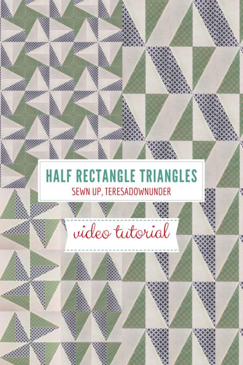 2-minute video tutorial: Half rectangle triangles